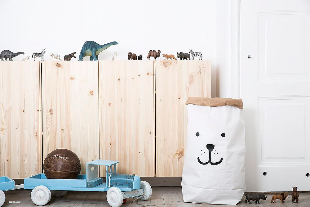 Tellkiddo paper bear storage bag