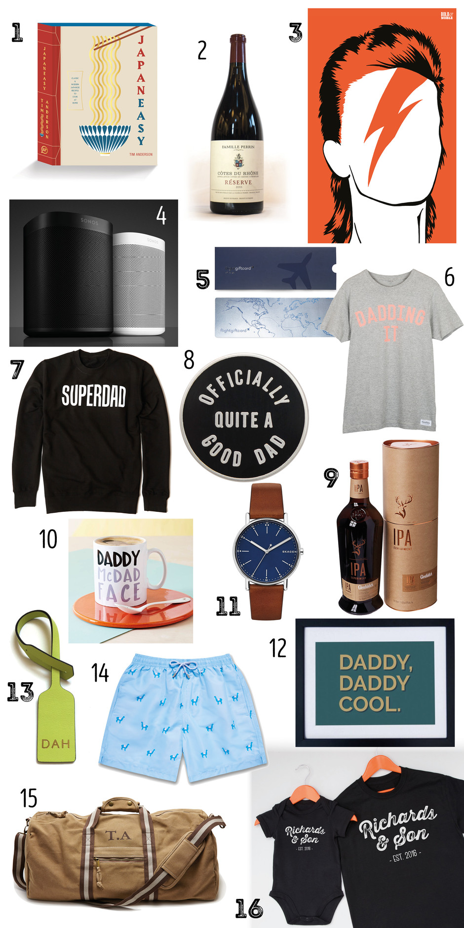 FATHER'S DAY GIFT GUIDE: Let's Hear It For The Boys!