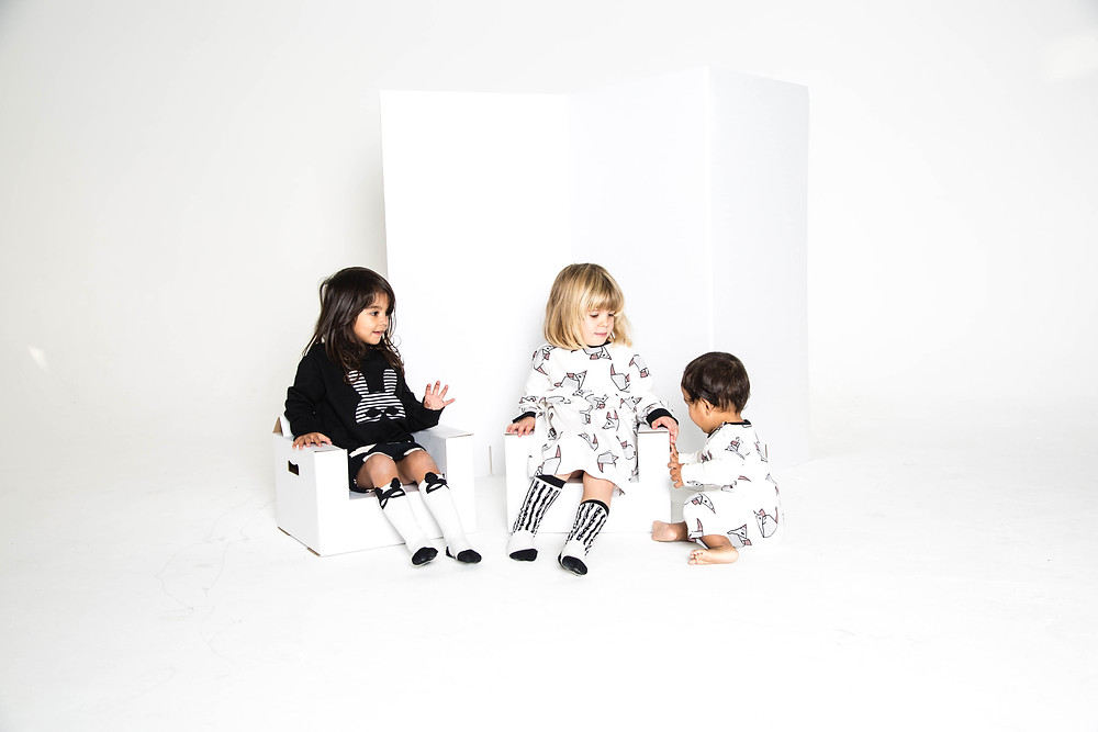 Monochrome childrens clothes