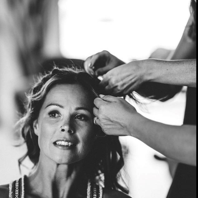 _ #behindthescenes #bridal #updos