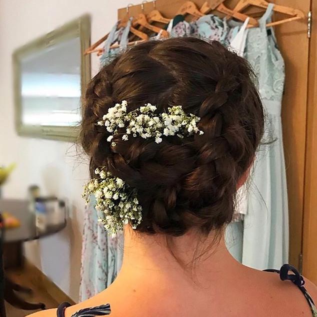 A boho vibe for Bridesmaid 2.jpg #inspiration #bridal #updos