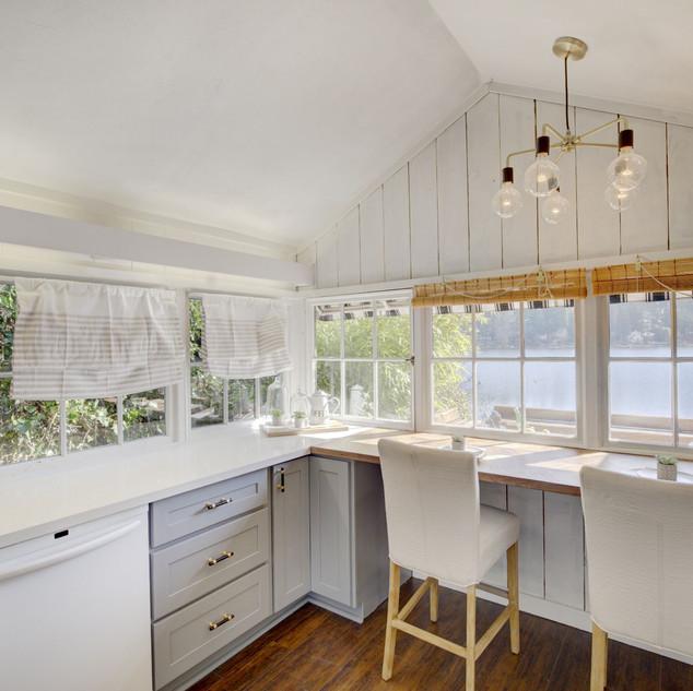 Kitchen Overlooking Lake