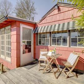 Pink Cottage On Lake