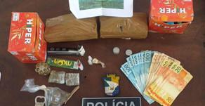 Polícia Militar aprende mais de 1 Quilo de Maconha em Operação deflagrada em Itabaiana.