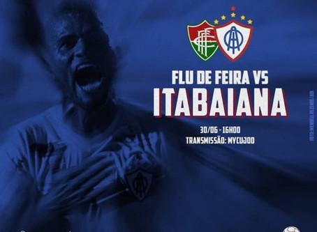 Itabaiana enfrentará o Fluminense de Feira nos dias 30 de junho e 06 de julho. Primeiro jogo é fora