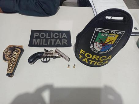 Homem é preso em Itabaiana por posse irregular de arma de fogo.