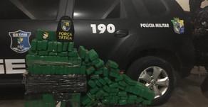Policiais do Getam e da Força Tática apreendem aproximadamente 200kl de Maconha em Itabaiana.