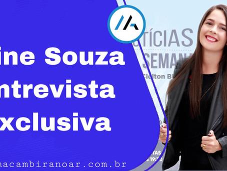 Programa Notícias da Semana diferente com Aline Souza