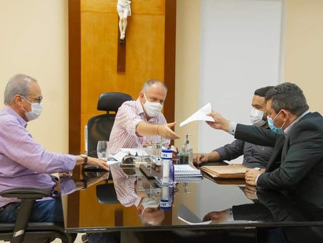 Em reunião, Prefeito Binho apresenta demandas de São Domingos ao Governador Belivaldo