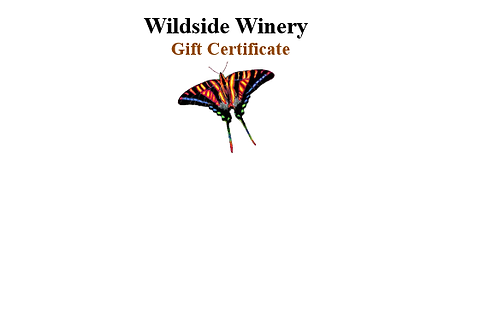$20 to $100 Gift Certificates (see options)