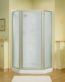 Kohler Sterling Corner Shower with Obscured Glass