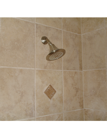 Showerhead inside Custom Tile Shower