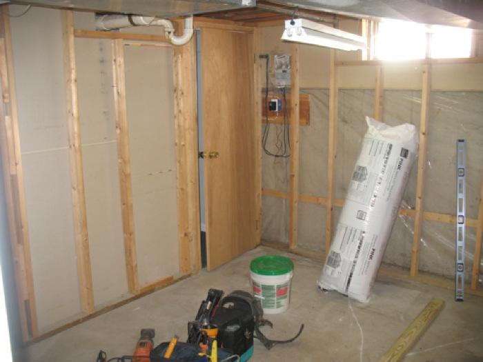 Basement Bathroom Process - Before