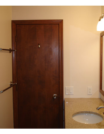 Bathroom Remodel with Large Mirror Upgrade