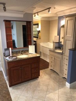 Vanity and Accessible Bathtub Display