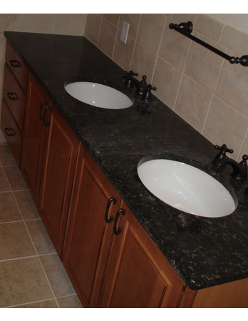 Double Vanity Upgrade with Dual Undermount Sinks