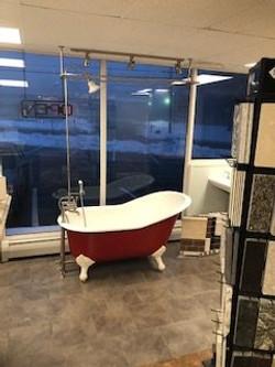 Slipper Bathtub Display