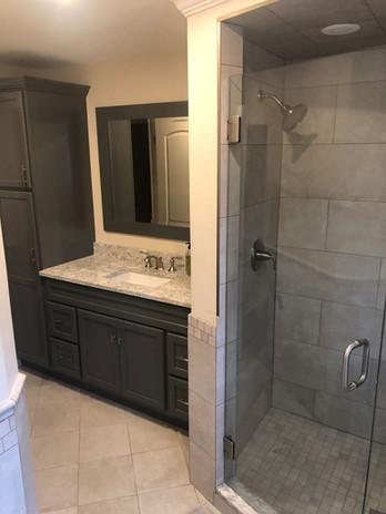 Bathroom with Custom Mosaic Walk-In Shower