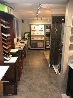 Vanity, Bertch Cabinetry, and Fixtures Display