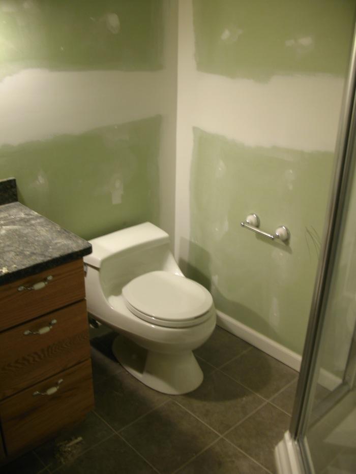 Basement Bathroom Process - After