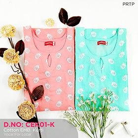 Cotton Embroidery Kurti