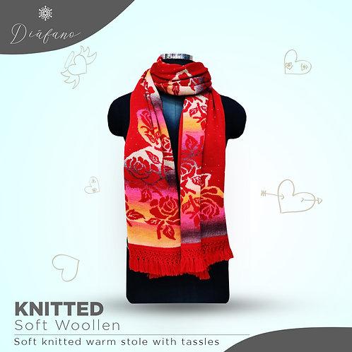 Knitted soft woollen stole DF 1957