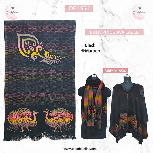 Knitted soft woollen stole DF 1956