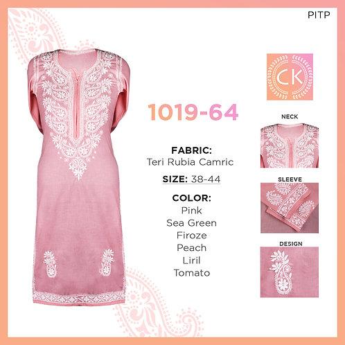 Chikankari Cotton Fabric Kurti 1019-64
