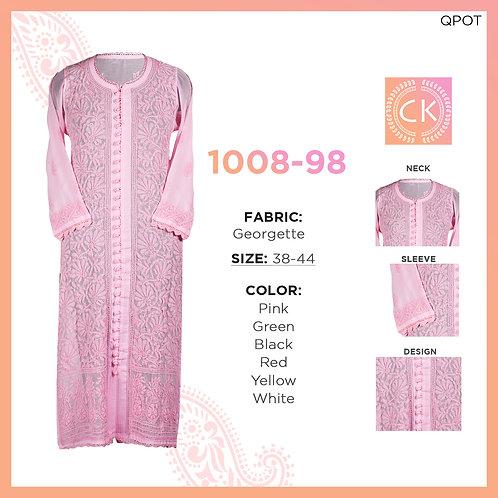 Noori 28 button Front all over color pe color Georgette 1008-98