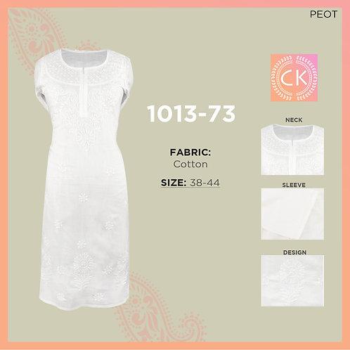 """RYP White Pe White L""""L Cotton Chikan Kari 1013-73"""