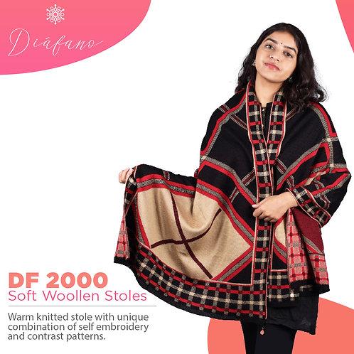 Diafano Printed Woollen Stoles DF 2000