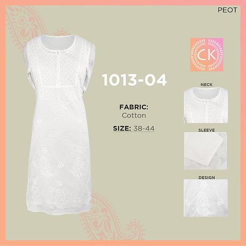 Yog Button Cotton White Chikan Kari 1013-04