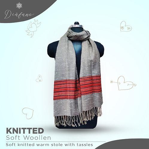 Knitted soft woollen stole DF 1963