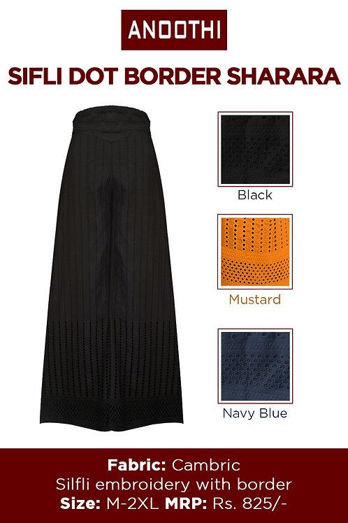 Sifli Emb.Border Sharara With Cambric Fabric