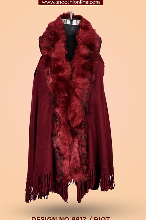 Anoothi Fur Poncho 8817