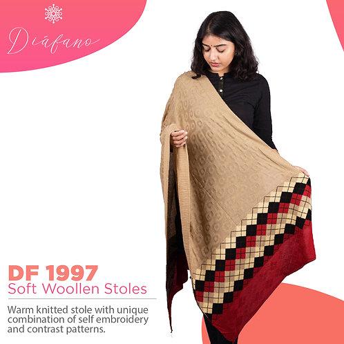 Diafano Printed Woollen Stoles DF 1997
