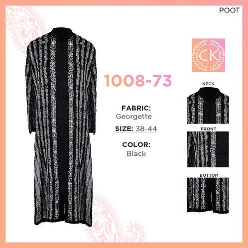 Noori Printex Black pe white Georgette 1008-73