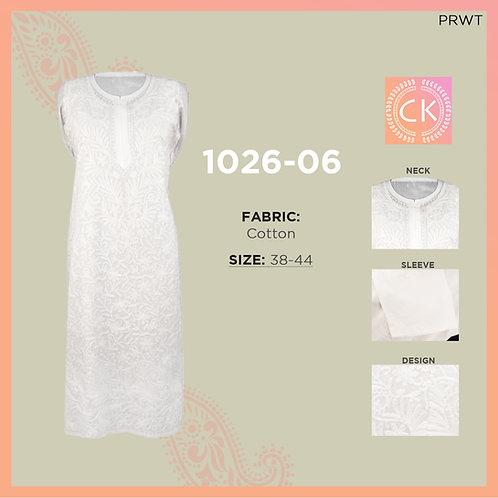 Ari Jaal Cotton White Chikan Kari 1026-06