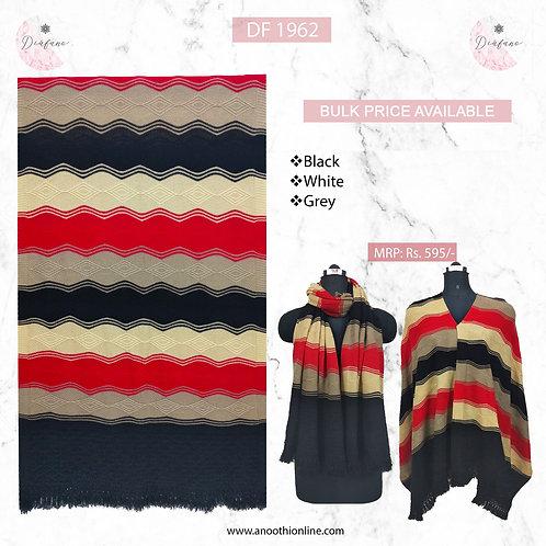 Knitted soft woollen stole DF 1962