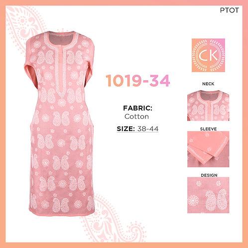 Chikankari Cotton Kurti 1019-34