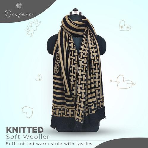 Knitted soft woollen stole DF 1947