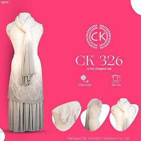 4 Pcs Ghaghra Set Viscose Fabric CK 326