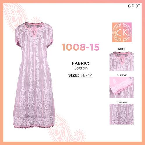 Chikan Kari Cotton Kurti 1008-15