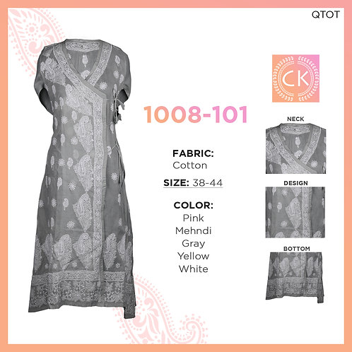 Angrakha Chikan kari Cotton 1008-101