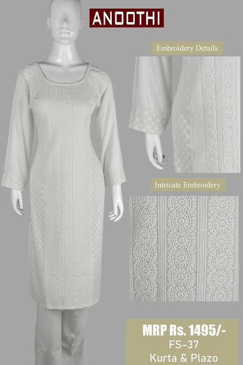 Anoothi Kurti Plazo Set Made From Fine Rayon Fabric FS-01-KP