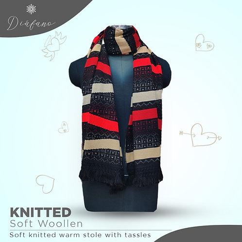 Knitted soft woollen stole DF 1954