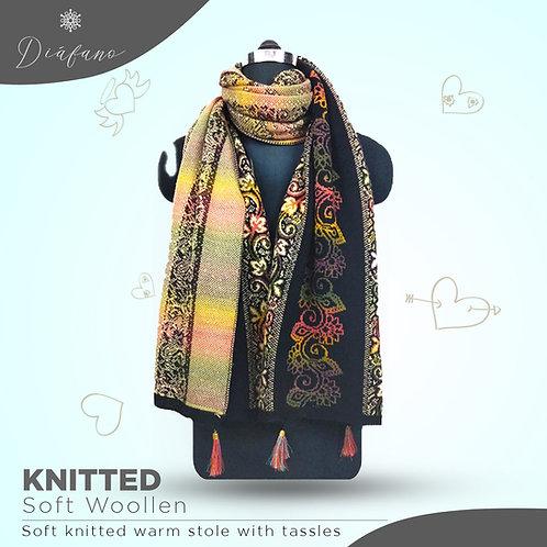 Knitted soft woollen stole DF 1952
