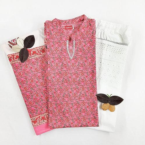 Cotton Pink 3Psc Set CP01-SKD