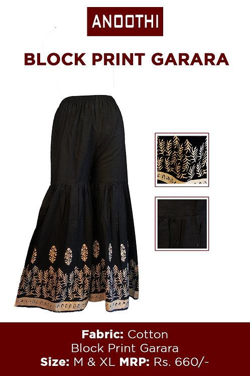 Block Print Garara With Cotton Fabric