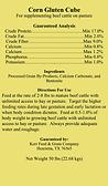Corn Gluten Cube Tag